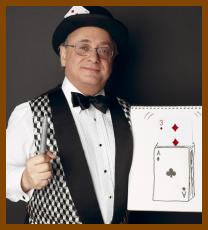The Party Magician and his magic sketch pad
